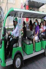 Đề xuất đón khách từ bến tàu bằng xe ô tô điện