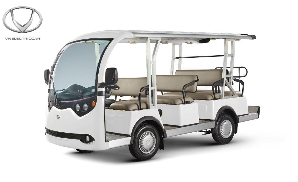 Xe điện 11 chỗ của Tùng Lâm (màu trắng)