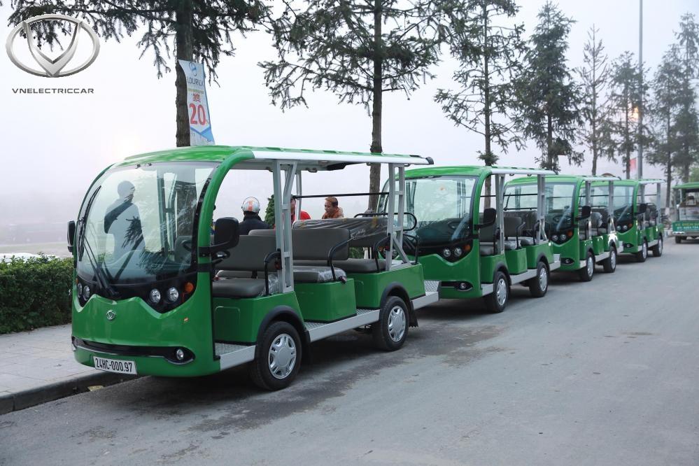 Xe điện 14 chỗ của Tùng Lâm được sử dụng phổ biến ở các địa điểm du lịch trên cả nước
