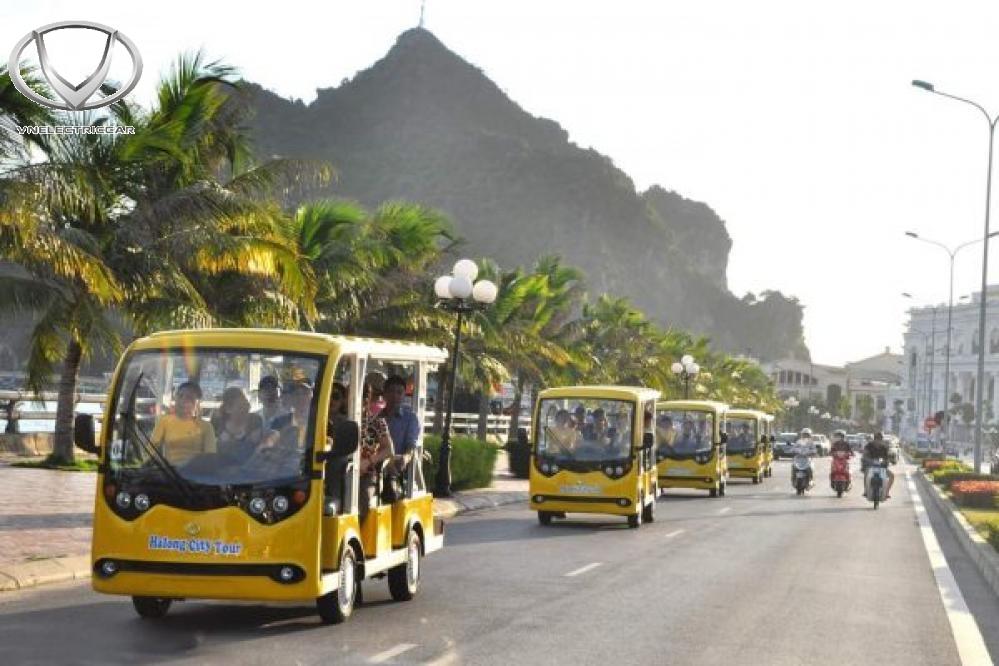 Xe điện du lịch của Tùng Lâm tại các địa điểm du lịch nổi tiếng