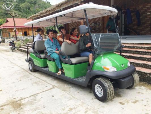 Bàn giao xe điện 8 chỗ tại Hoàng Su Phì Hà Giang