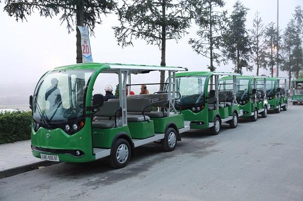 Xe điện Việt Nam VNE.CAR 08ACi10 - lựa chọn hàng đầu tại khu du lịch