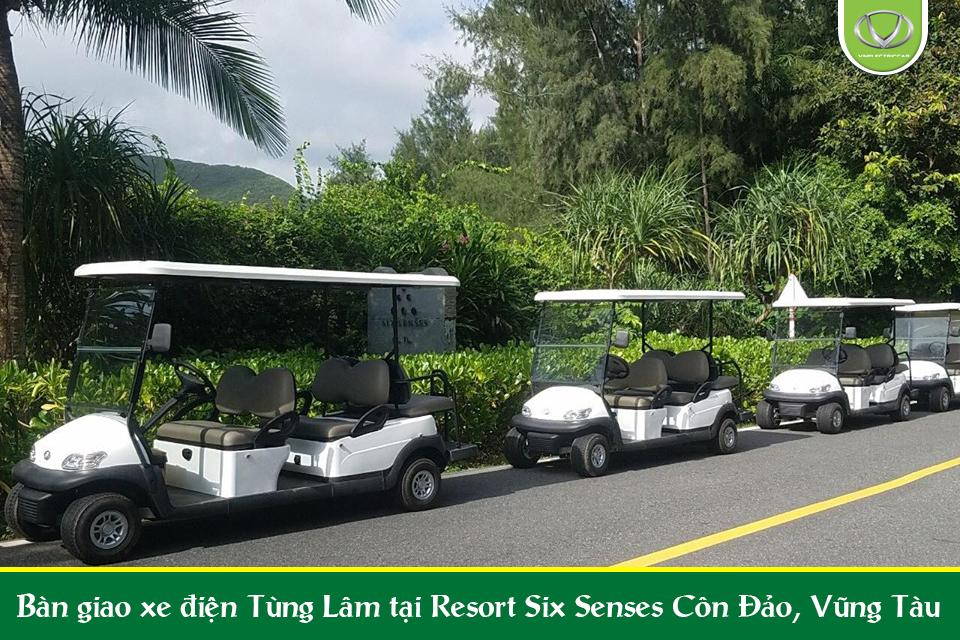 4 xe điện Tùng Lâm đã bàn giao thành công tại Resort Six Senses - Vũng Tàu