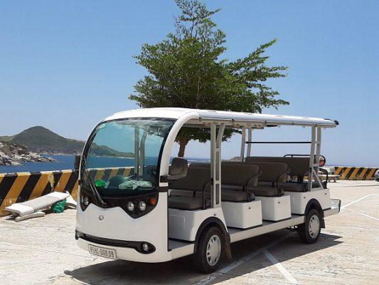 Du lịch xanh với xe điện 4 bánh của Tùng Lâm