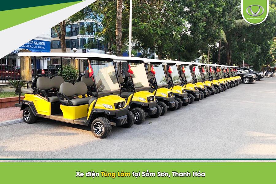 Xe điện Tùng Lâm - mang sự hiện đại cho các khu du lịch