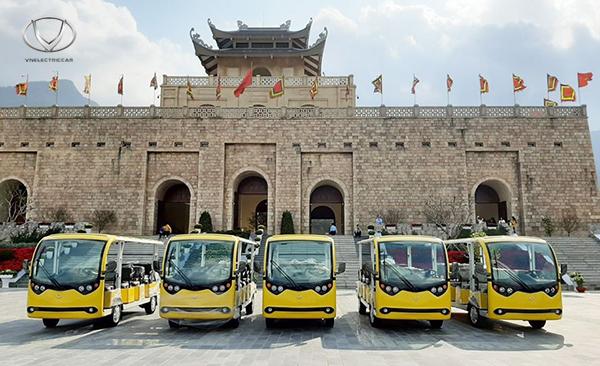 Tùng Lâm bàn giao 5 xe điện VNE.CAR 14AC i10 cho khu du lịch tâm linh Tây Yên Tử - Bắc Giang