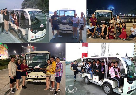 Trải nghiệm xe điện du lịch Hạ Long Xanh – Công ty Công Thành