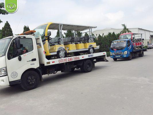 Tùng Lâm xuất 3 xe VNE.CAR 14AC i10 tới đảo Cô Tô