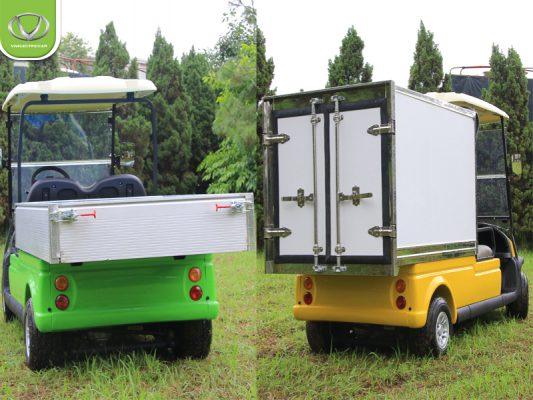 So sánh xe điện chở hàng VNE.CAR CRB thùng hở và thùng kín