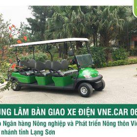 Tùng Lâm bàn giao xe điện cho Ngân hàng NN&PT Nông thôn Việt Nam chi nhánh tỉnh Lạng Sơn