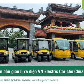 Chùa Ba Vàng tiếp tục tin tưởng và lựa chọn xe điện Tùng Lâm