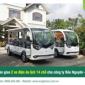 Tùng Lâm bàn giao xe điện du lịch 14 chỗ cho công ty Bảo Nguyên